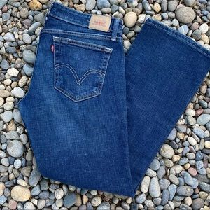 Levis 524 too superlow bootcut jeans